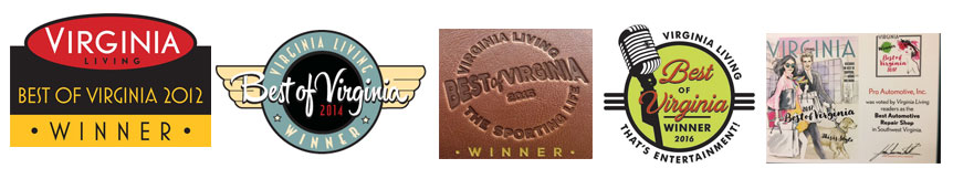 Pro Automotive Inc. Best of Virginia Awards